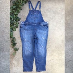 Torrid Distressed Overalls